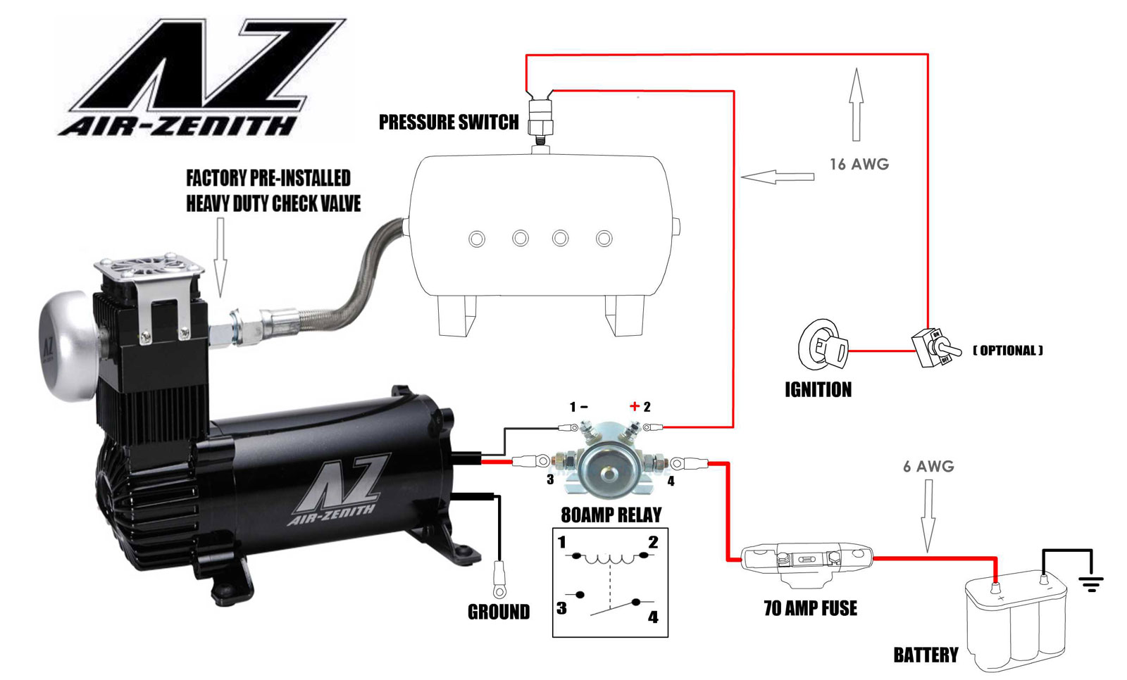 Tech Support – Air Zenith | Air Compressor 12 Volt Solenoid Wiring Diagram |  | Air Zenith